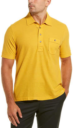 Dunhill Pocket Linen & Silk-Blend Polo