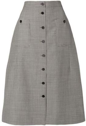 Rochas button-up midi skirt