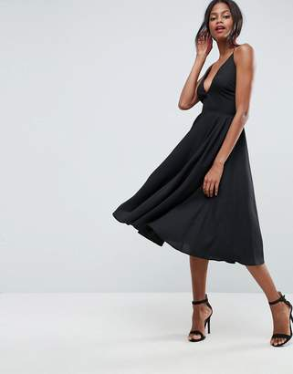 ASOS Strappy Back Plunge Midi Dress $51 thestylecure.com