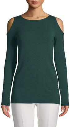Lafayette 148 New York Cold-Shoulder Wool Sweater