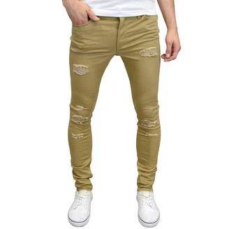 Jack and Jones Men's Ripped Skinny Fit Stretch Chinos