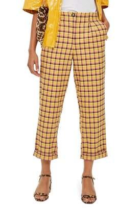 Topshop Picnic Check Peg Trousers