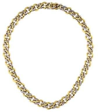 18K Diamond Link Chain