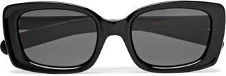 Flatlist FLATLIST - Eazy Rectangle-Frame Acetate Sunglasses - Men - Black