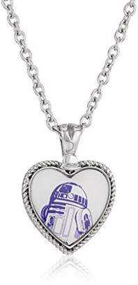 Star Wars Jewelry R2-D2 Stainless Steel Heart Pendant Necklace