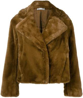 Vince oversized faux-fur jacket