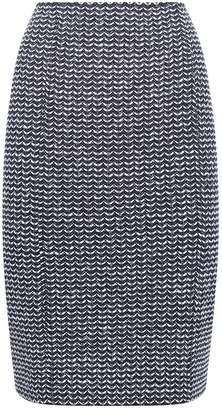 St. John Tweed Midi Skirt