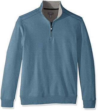 Van Heusen Men's Flex Long Sleeve Spectator 1/4 Zip Sweater Fleece
