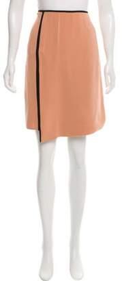Reed Krakoff Silk Knee-Length Skirt Mauve Silk Knee-Length Skirt
