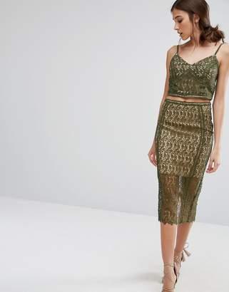 New Look Premium Lace Pencil Skirt