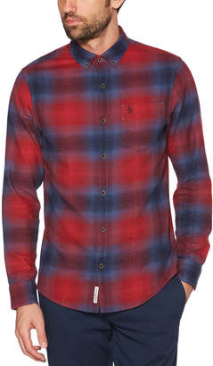 Original Penguin BIG & TALL OMBRE PLAID TWILL SHIRT