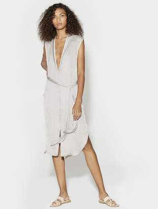 Halston Tie Waist Shirt Dress