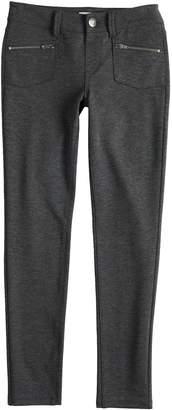 Mudd Girls' 7-16 Zipper-Pocket Ponte Skinny Pants