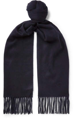 Johnstons of Elgin Kingsman - + Fringed Cashmere Scarf