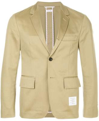 Thom Browne Unconstructed Cotton Twill Classic Sport Coat