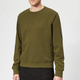 Men's Basic Elbow Patch Sweatshirt Olive