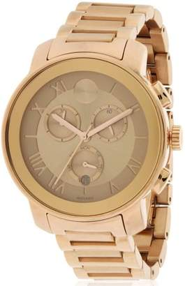 Movado Bold Rose Gold Ion Chronograph Women's Watch, 3600210