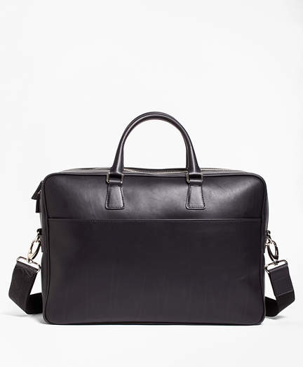 Brooks Brothers  Leather with Black Watch Briefcase