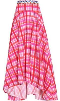 Peter Pilotto Flared Checked Cotton-Blend Poplin Midi Skirt