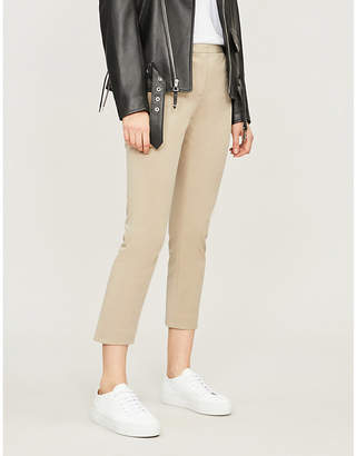 Theory Cropped mid-rise stretch-cotton skinny trousers