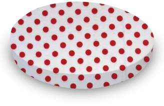 Stokke SheetWorld Fitted Oval Mini) - Red Polka Dots - Made In USA - 58.4 cm x 73.7 cm ( 23 inches x 29 inches)