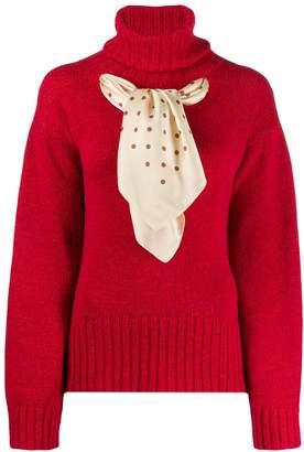 Jejia scarf-detail knit sweater