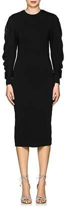 Area Women's Edna Crystal-Embellished Stretch-Piqué Dress - Black