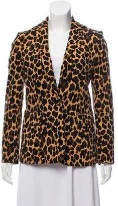 Frame Velvet Animal Print Blazer
