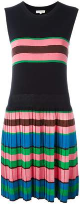 Parker Chinti & pleated knitted dress