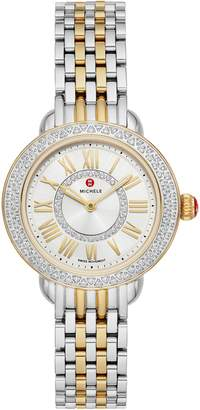 Michele Serein Mini Diamond Watch Head & Bracelet, 28mm