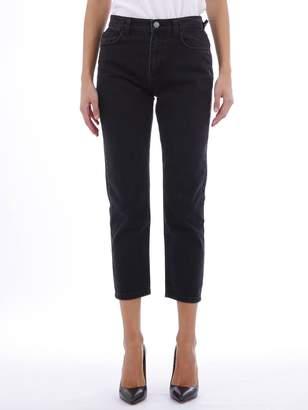 Current/Elliott Black Cropped Jeans