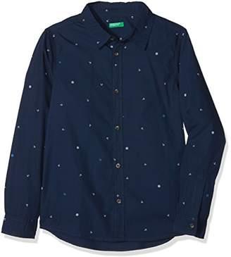 Benetton Boy's Shirt Plain Not Applicable Regular Fit Long Sleeve Blouse,(Manufacturer Size: XL)