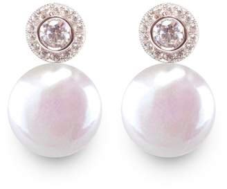 ORA Pearls - Halo Coin Pearl Earrings