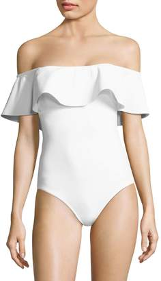 Karla Colletto Swim One-Piece Ruffle Swimsuit