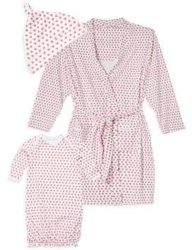 DAY Birger et Mikkelsen Roller Rabbit Baby's Three-Piece Hearts First Cotton Hat, Adult Robe& Gown Set