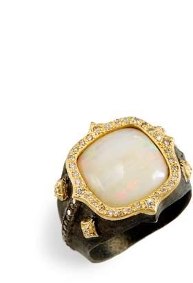 Armenta Old World Cushion Opal Ring