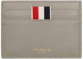 Thom Browne Grey Single Card Holder $290 thestylecure.com