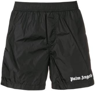 Palm Angels logo swimming shorts