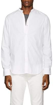 Officine Generale Men's Nep Cotton Banded-Collar Shirt
