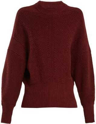 Isabel Marant Lonnyl textured-knit cotton-blend sweater