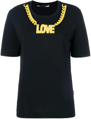 Love Moschino logo chain detail T-shirt