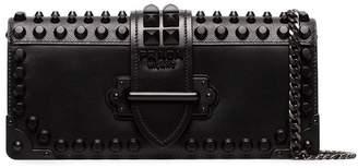 Prada Black Cahier studded leather bag