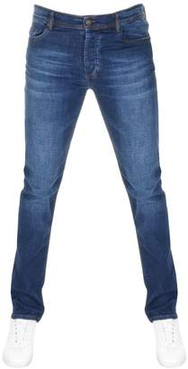 Versace Slim Fit Tiger Jeans Blue