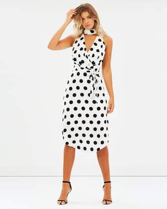 Atmos & Here ICONIC EXCLUSIVE - Martez High Neck Midi Dress