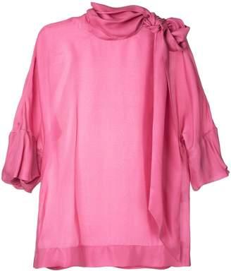 Paule Ka tie neck woven blouse