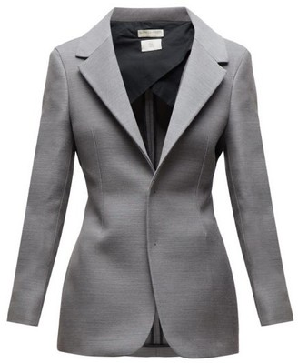 Bottega Veneta Single Breasted Blazer - Womens - Grey