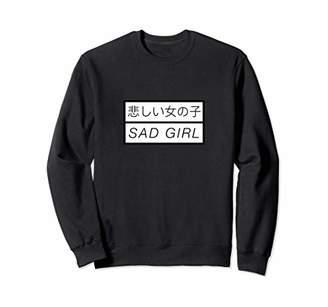 Aesthetic Vaporwave Sad Girl Sweatshirt