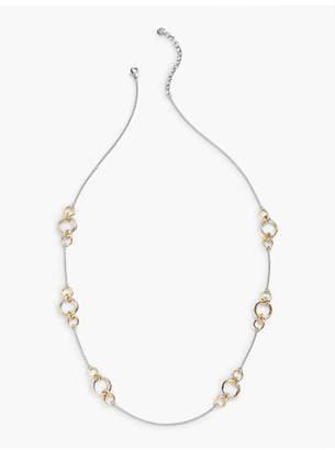 Talbots Interlocking Rings Layering Necklace