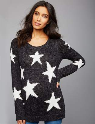 A Pea in the Pod Star Maternity Sweater