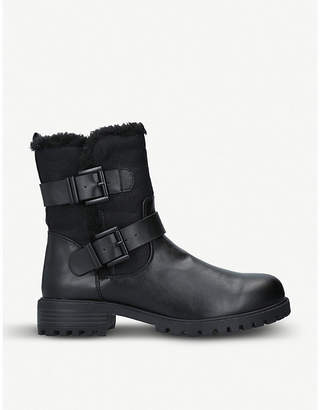 Kurt Geiger Snug 2 biker faux-leather boots